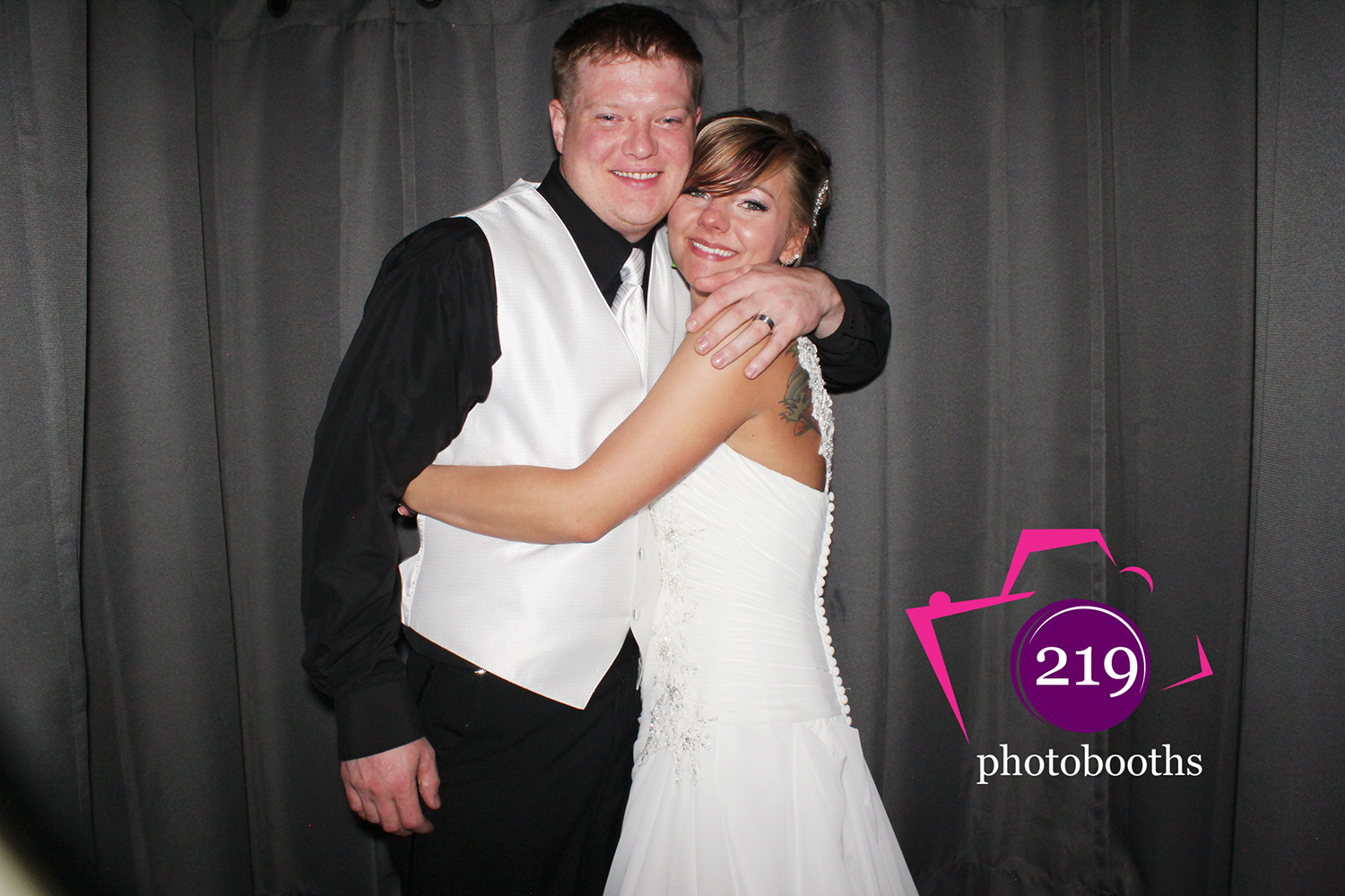 Patrician Banquet Center Photo Booth Bride and Groom