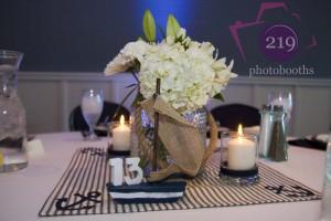Lighthouse Restaurant Wedding Centerpiece