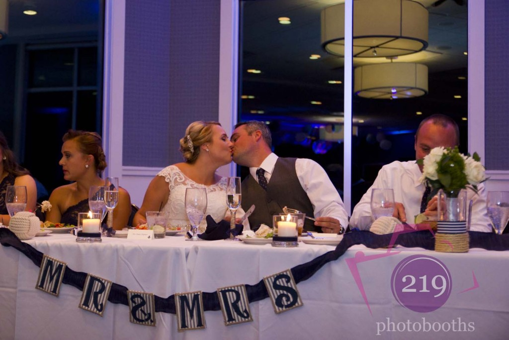 Lighthouse Restaurant Wedding First Kiss